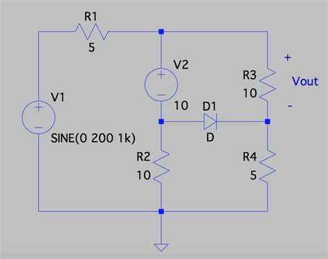 diode circuit analysis questions circuit analysis with an ideal diode electrical engineering stack exchange