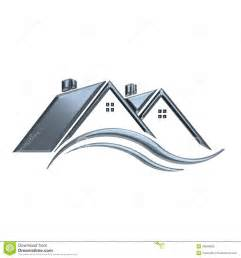 silver houses real estate logo stock illustration image