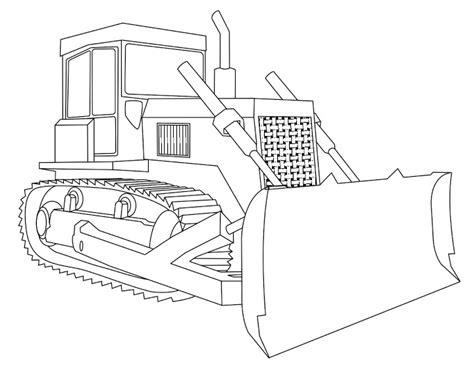 Coloriage Bulldozer Les Beaux Dessins De Transport 224