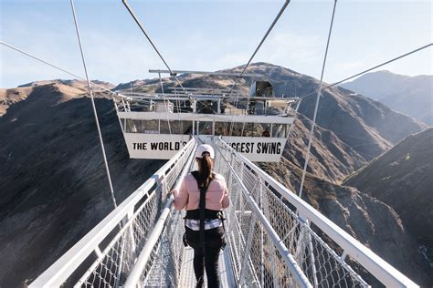 bungee swing new zealand 440 foot bungy vs 394 foot swing which one would you do