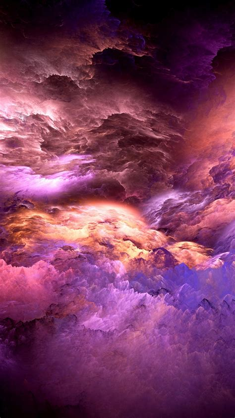 wallpaper clouds colorful graphics   abstract