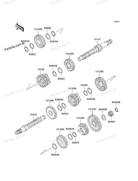 kawasaki bayou 250 parts diagram kawasaki atv parts 2011 klf250abf bayou 250 transmission