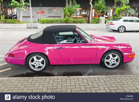 pink porsche 911 porsche 911 turbo cabriolet stock photos porsche 911