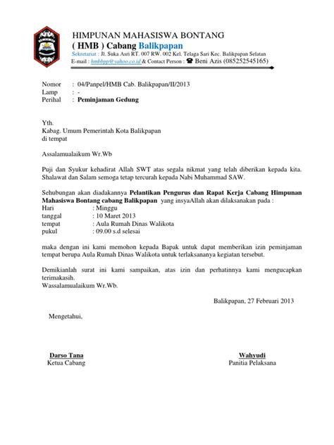 surat peminjaman gedung dinas