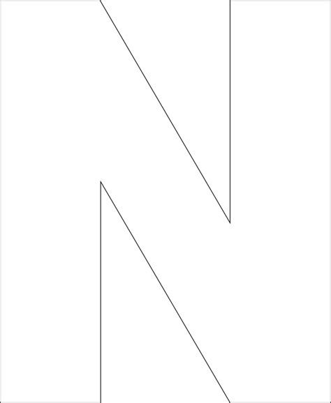 letter n template 6 best images of printable big letter n large letter n