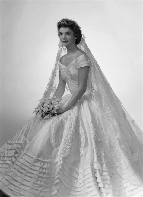 Jackie Kennedy Wedding Gown by Vintage Bridal Icon Jacqueline Bouvier Kennedy
