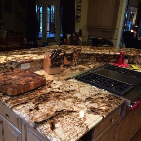 Splendor Gold Granite Kitchen Countertops Design Ideas