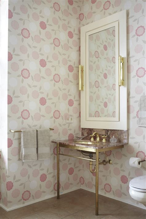 traditional bathroom wallpaper lust worthy statement bathroom wallpapers