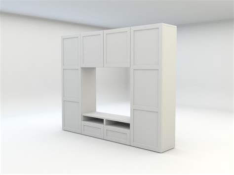 besta panel 3d model ikea besta