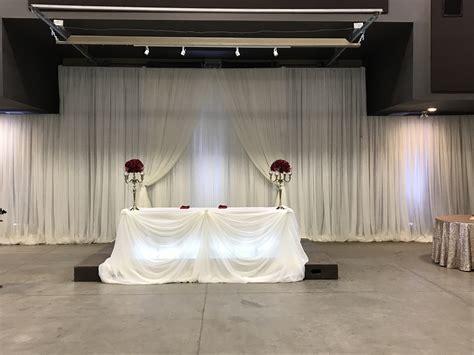 Wedding Decor   Head Table, Backdrop   Ancaster Fairgrounds