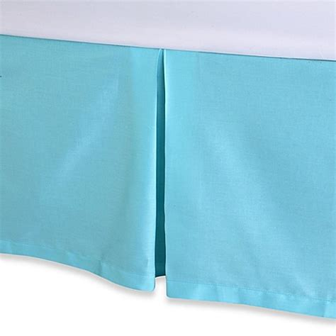 blue bed skirt trina turk 174 blue peacock bed skirt bed bath beyond