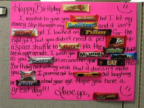 Birthday Cards Made With Chocolate Bars Candy Bar Birthday Card Things I Ve Made Pinterest