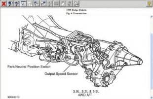 1999 Dodge Dakota Transmission 1999 Dodge Dakota Location Of Transmission Output Sensor