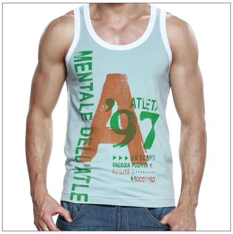 Blue Letters Vest trendy s cotton tank tops vest s letters print