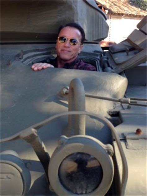 Get Out Of Arnolds Seat by Arnold Schwarzenegger Takes His Own Personal Tank Out For