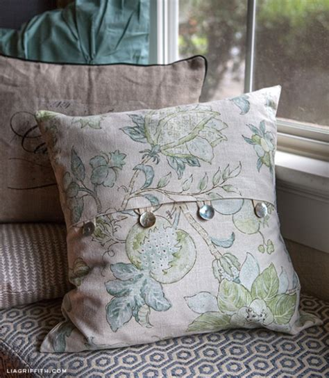 how to make a slipcover for a pillow easy diy envelope pillow covers by lia griffith project