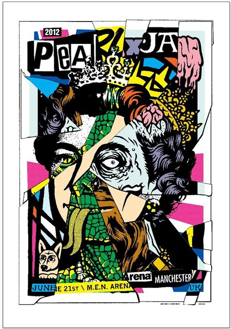 Manchester City St Jam Dinding pearl jam poster 2012 manchester june 6 21 grunge posters