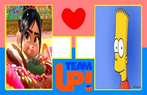 Vanellope Von Schweetz Meme - vanellope von schweetz x bart simpson couple meme by