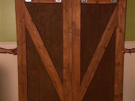 How To Build A Barn Style Door How To Make Barn Door Style Blackout Shutters How Tos Diy