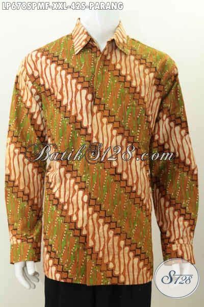 Kemeja Batik Parang Kombinasi K8088 kemeja batik elegan baju batik halus motif parang proses