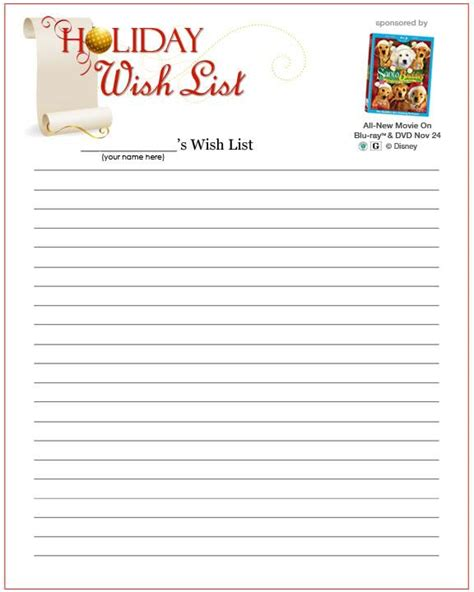 printable holiday wish list search results for printable christmas wishlist for santa