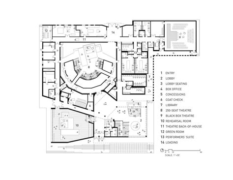theater floor plans gallery of writers theatre studio gang architects 7