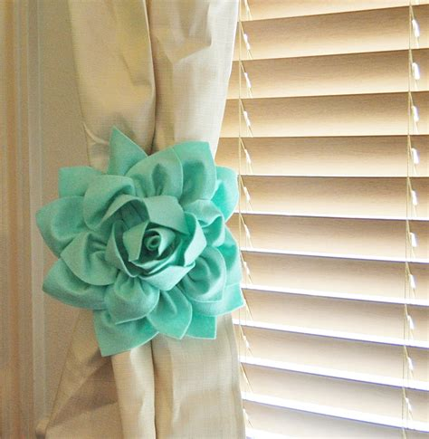 Tie Backs For Nursery Curtains Two Dahlia Flower Curtain Tie Backs Curtain Tiebacks Curtain