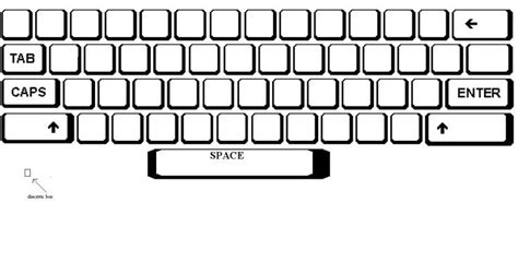 blank map of a qwerty keyboard as a template for keyboard
