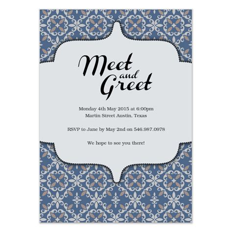 Sle Invitation For Meet And Greet Meet And Greet Invitations Cards On Pingg