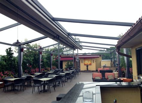 gennius retractable pergola awning for restaurant