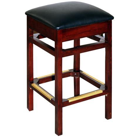 backless wood restaurant bar stool