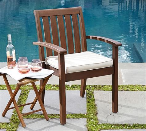 Dining Room Chair Cushions Pottery Barn Sunbrella 174 Piped Outdoor Dining Chair Cushion Solid