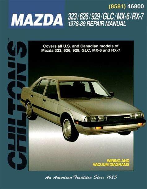 small engine service manuals 1989 mazda 929 navigation system 1978 1989 mazda rx 7 323 626 929 glc mx 6 chilton s total car care manual