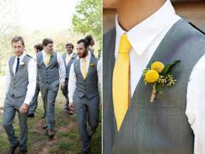 grooms attire for wedding brides bridesmaids blooms groomsmen in yellow accessories not yellow suits