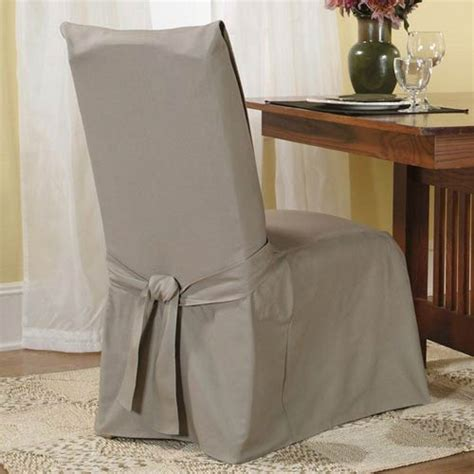 linen cotton duck dining room chair slipcover sure