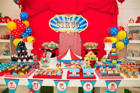 carnival themed birthday decorations kara s ideas circus carnival 1st birthday boy