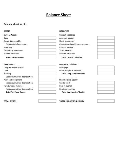 Free Sle Balance Sheet Template Excel 17 Balance Sheet Templates Excel Pdf Formatsbalance Balance Sheet Template Word