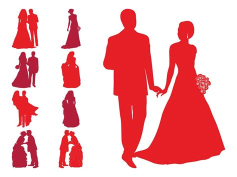 Wedding Vector Free by Wedding Silhouettes Vector Graphics Freevector