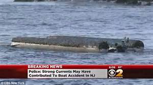 fishing boat accident nj pontoon boat in new jersey carrying seven capsizes leaving