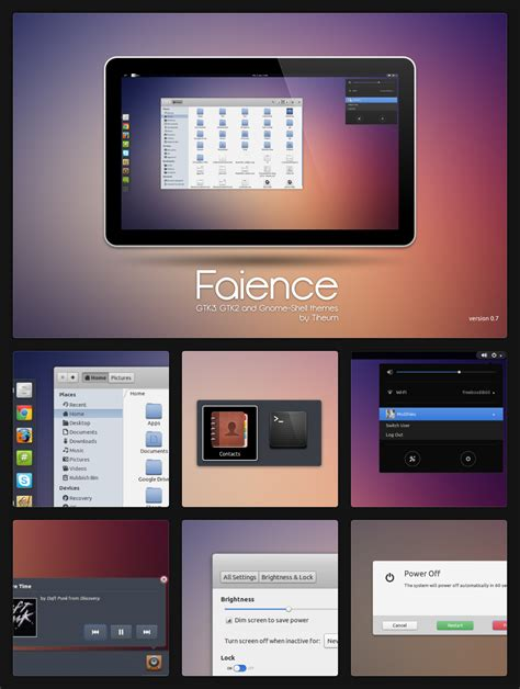 gnome themes more gtk3 gnome shell faience by tiheum on deviantart