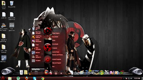 itachi uchiha themes for windows 8 1 lightuzumaki itachi black theme for windows 7