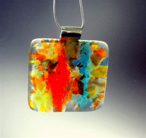 Handmade Fused Glass - april handmade fused glass necklace by glassimo chokers