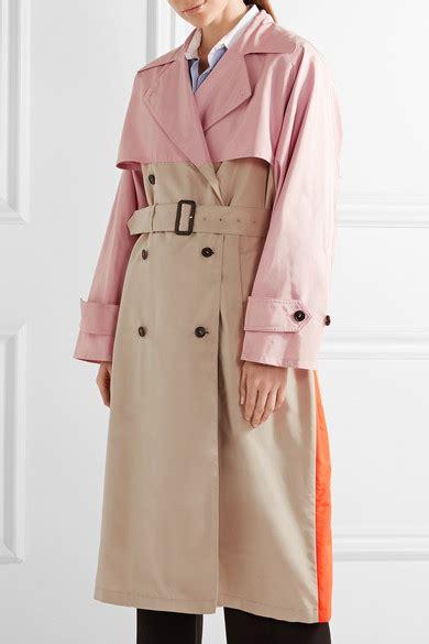 color block trench coat prada color block silk faille trench coat net a porter