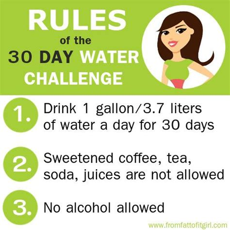 water weight loss challenge 30 day water challenge see more tips on www