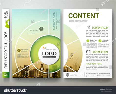 circle brochure template brochure design template vector flyers report business