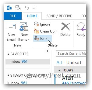 how to disable the junk mail filter in outlook 2013