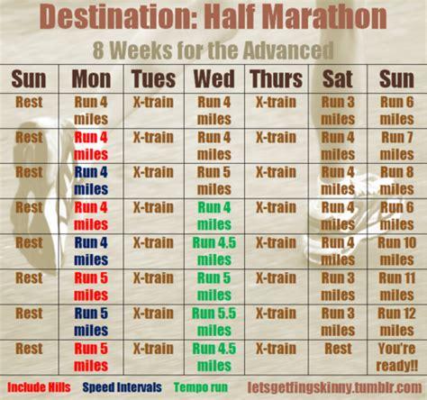 To Half Marathon 20 Weeks by Letsgetfingskinny Personal 8 Week Routine To Get In