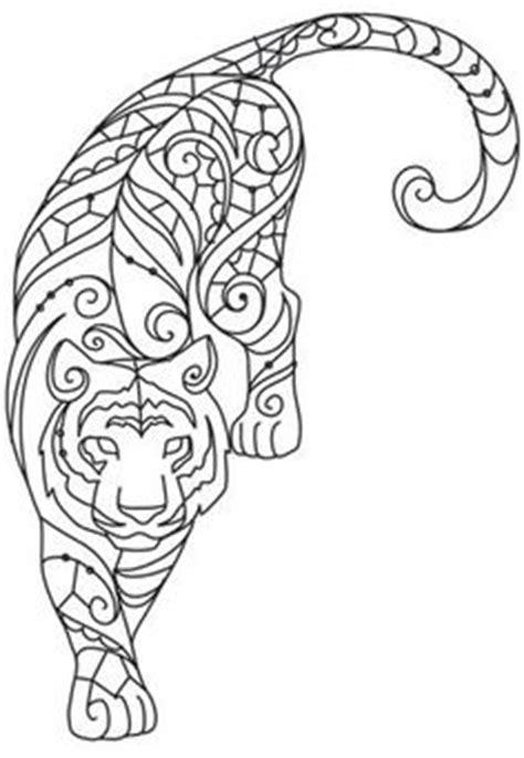Sticker Papier Für Drucker by Tiger In Pattern Wall Sticker Mandala Animal Wall Decal