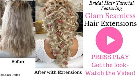 Wedding Hair Using Clip In Extensions   Fade Haircut