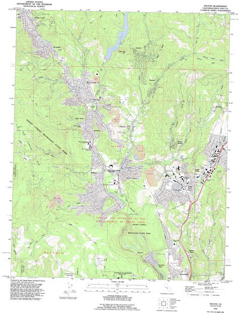 felton california map felton topographic map ca usgs topo 37122a1